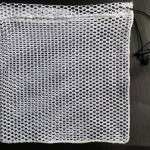 "12x12 Net Bag with Sleeve, Draw Cord, and Cordlock. 1/4"" Ace Netting"