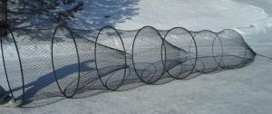 black hoop net on snow