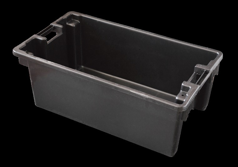 small black fish holding box