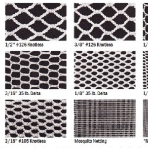 Knotless Netting Sizes