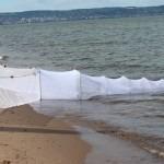 mini fyke net on beach