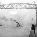 Old picture of the Duluth Ariel Bridge